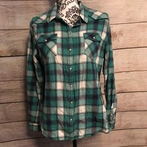 Mossimo Size XL Western Style Plaid Flannel